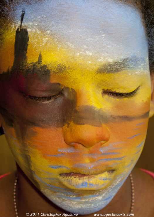 facepainting or face painting the medium is the