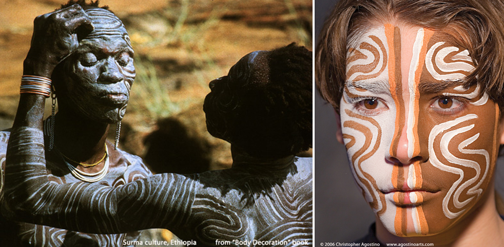 From african masks to abercrombie fitch the story for African body decoration