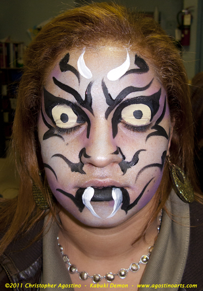 Scary Halloween Face Painting http://vyturelis.com/scary-halloween-face-painting-ideas.htm