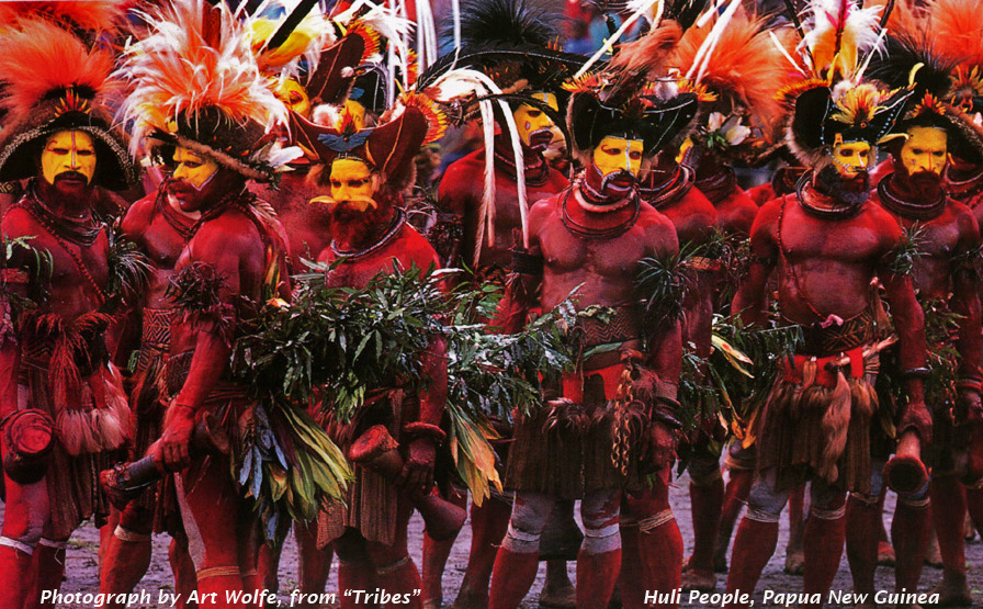 Traditional celebratory bodypainting from Papua New Guinea