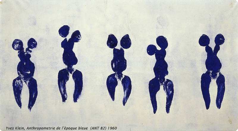 The resultant print of an Yves Klein Anthropometry