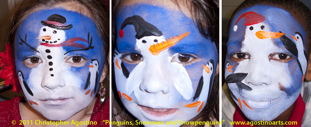 Christmas Face Painting Ideas.Face Painting Gallery 2011 Holiday And Christmas Faces