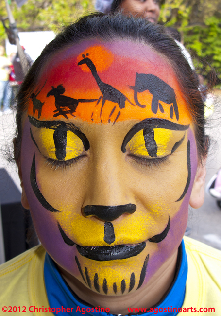 Face Painting: 14 Lion Faces — Run For the Lions at the ...