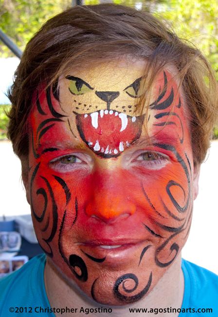 Realistic Lion Face Paint Face Painting 14 Lion Faces