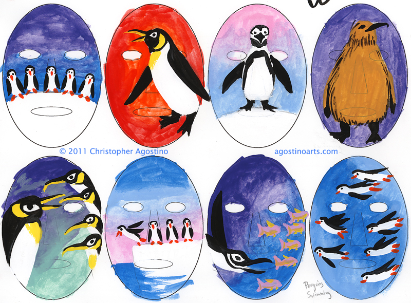 Penguin_Face_Painting_Sketches_agostinoarts_2011
