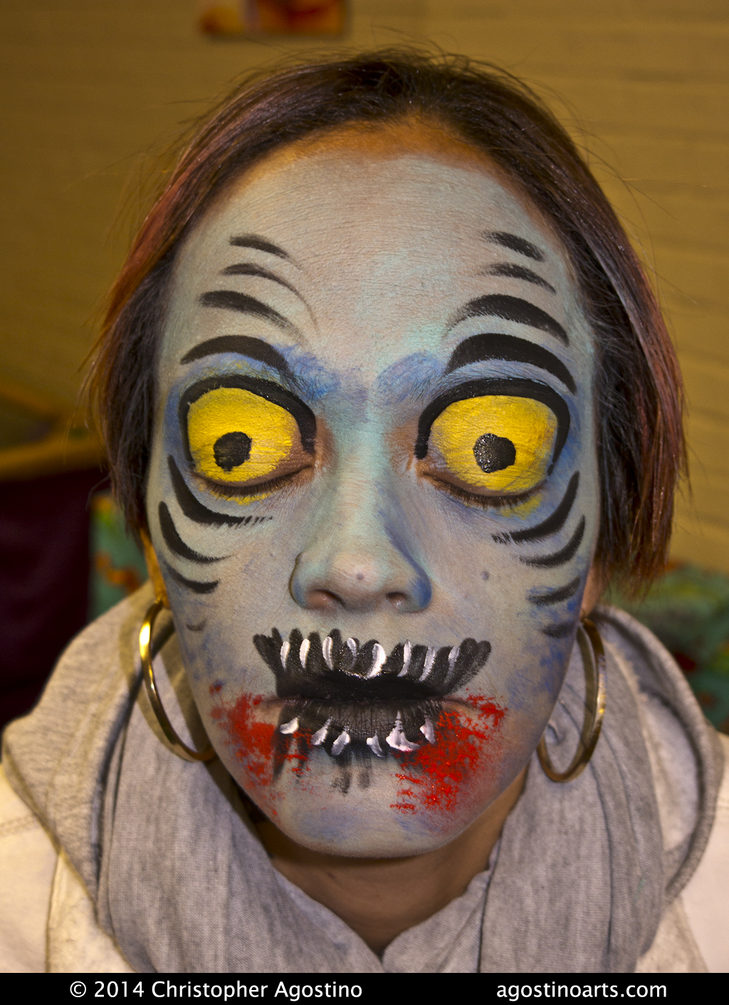 Crazy Eye Make Up: Zombie_crazyEyes_141026_agostinoarts « The Story Behind