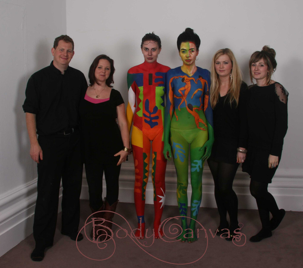 Matisse Inspired bodypainting by Raphealle Fieldhouse